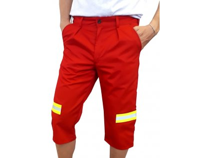 reflexni kalhoty capri zachranar cervene 2
