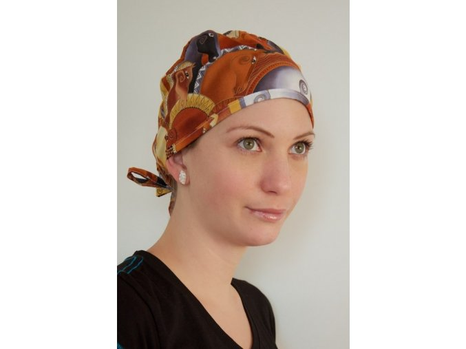 Chirurgická čepice - Koníci