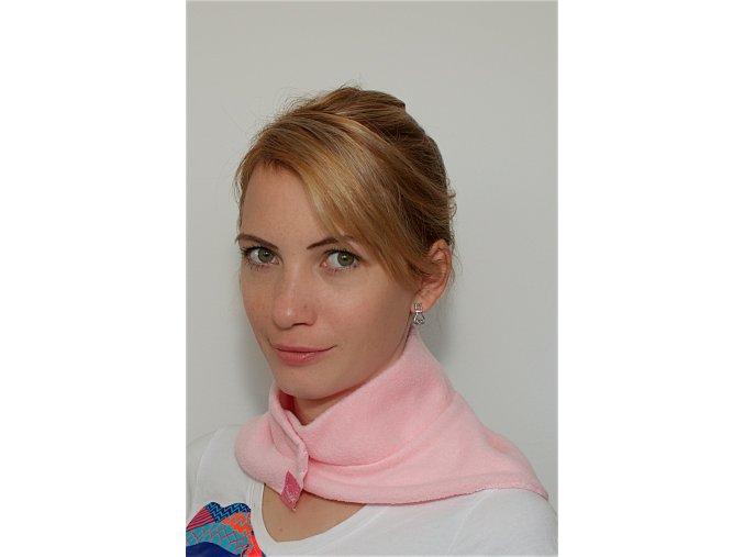 Fleecový nákrčník - Růžový