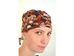 Chirurgická čepice - Čokoládové pralinky