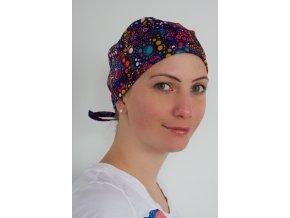 Chirurgická čepice - Batika fialová