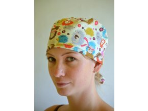 Chirurgická čepice - Ježci