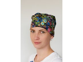 Chirurgická čepice - Batika duhová