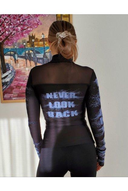 NEVER LOOK BACK MIKINA - BLACK
