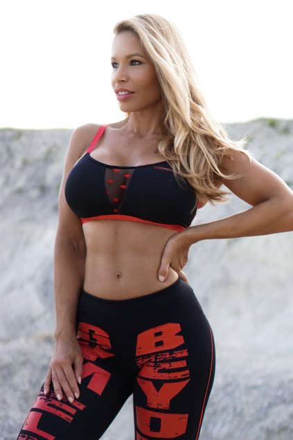 FUERTE red top & Red Fractured leggings 3