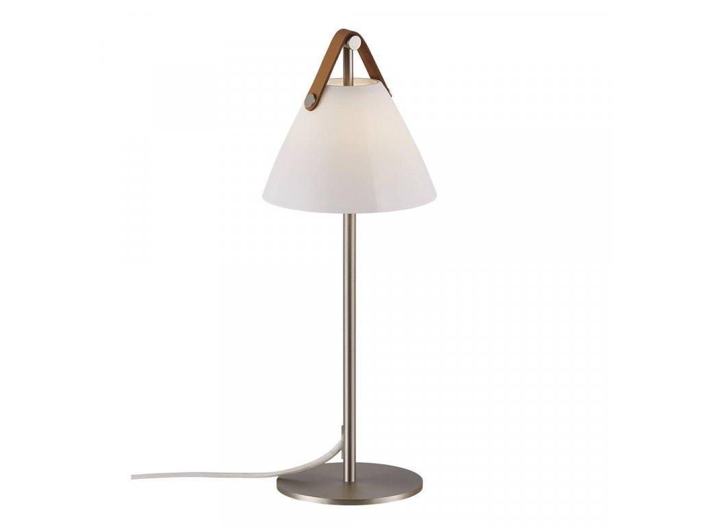 Stolní lampa Nordlux Strap , kov a kůže