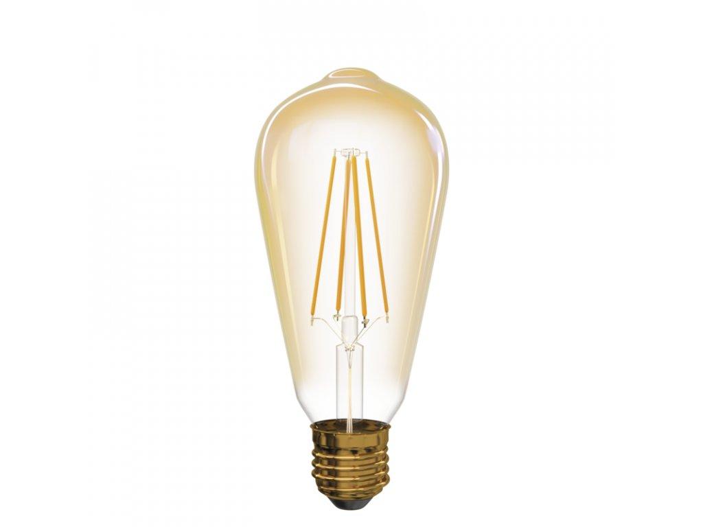 LED žárovka Vintage ST64 4W E27 teplá bílá+