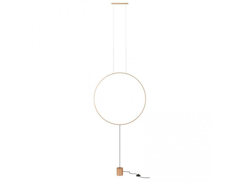 Závěsná nebo stojací LED lampa Slick, ø 815 mm