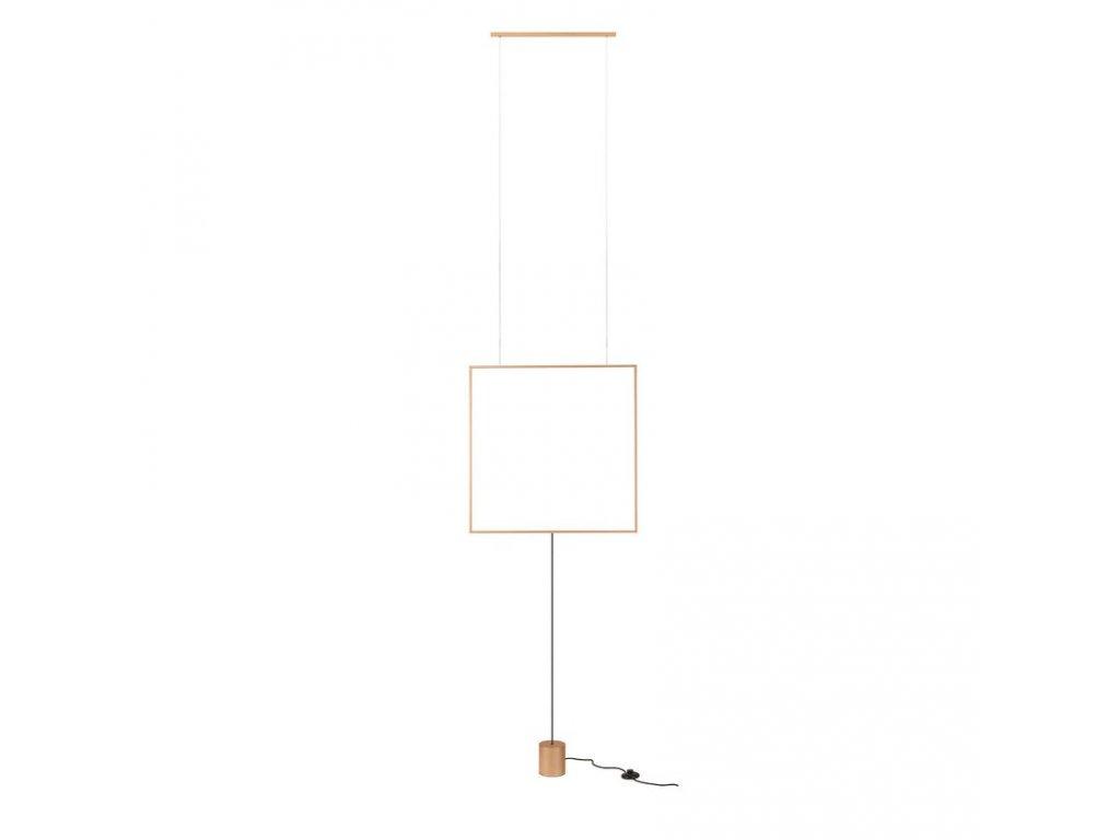 Závěsná nebo stojací LED lampa Slick, š. 617 mm