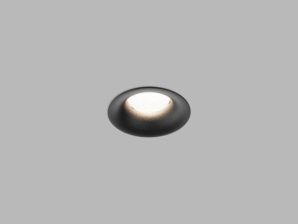 3125 7 led2 spot c b zapustne svitidlo cerna 9w barva cerna barva svetla 4 000k