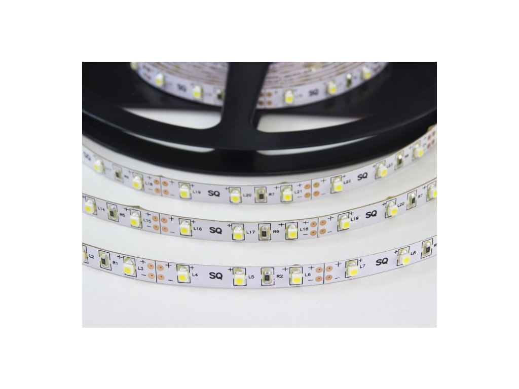LED pásek 12V, 9,6W/m, 120LED/metr