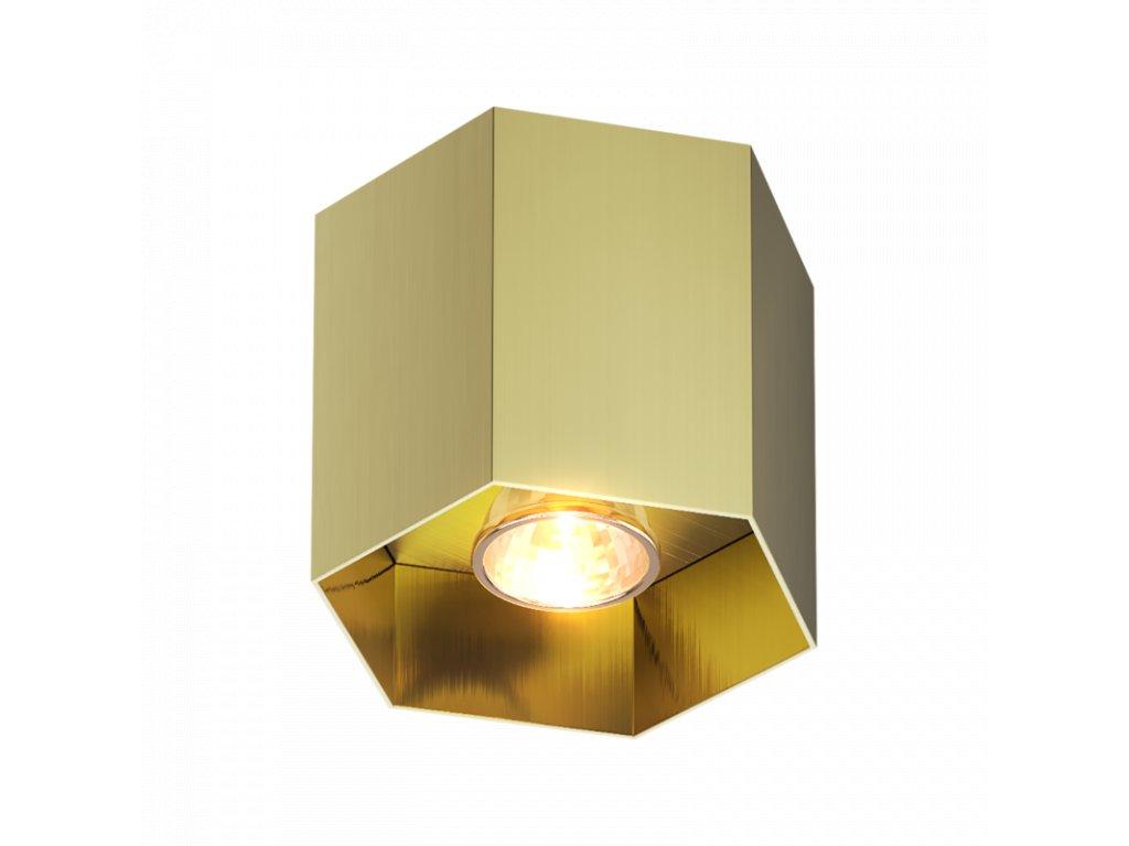 stropni svitidlo polygon 1 gold white zuma line