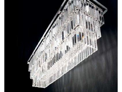 kristall kronleuchter deckenlampe eckig martinez ideal lux pl8