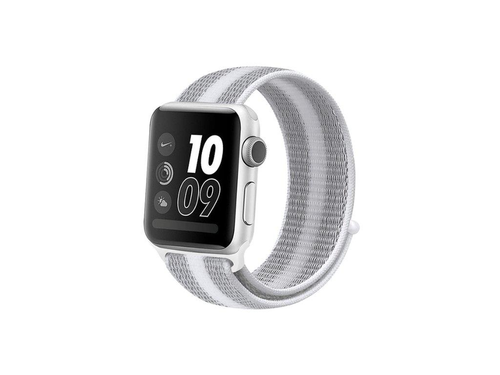 řemínek apple watch bílý