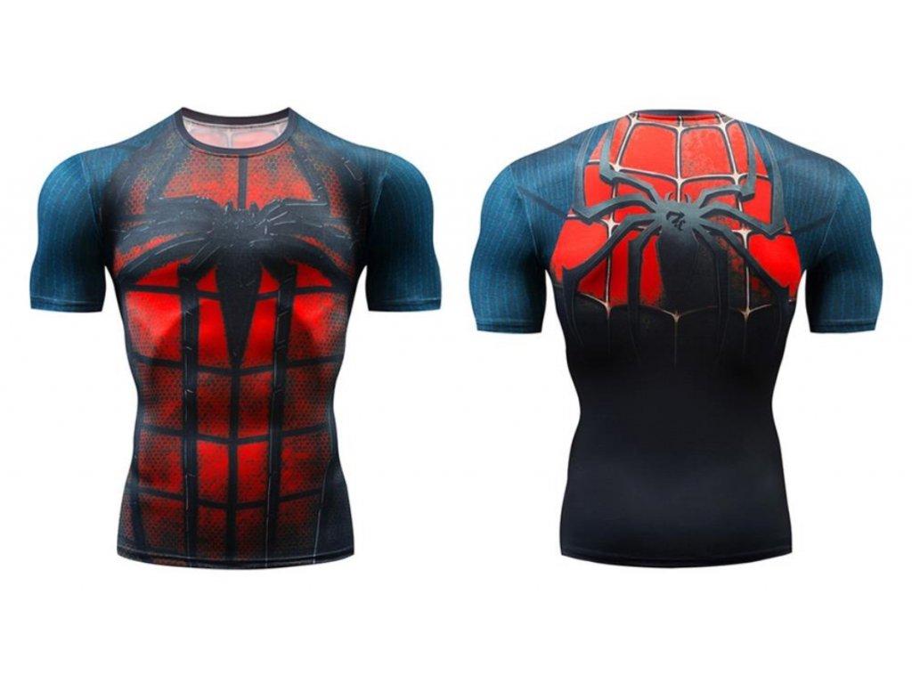 fitess tričko spiderman