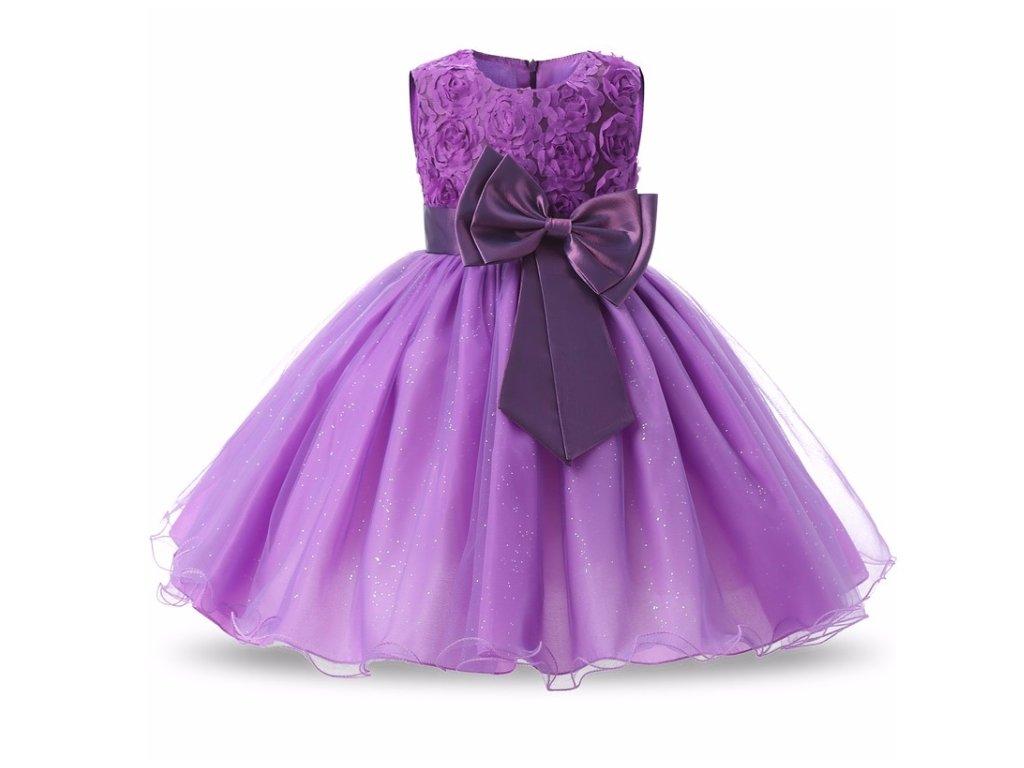 šaty purple