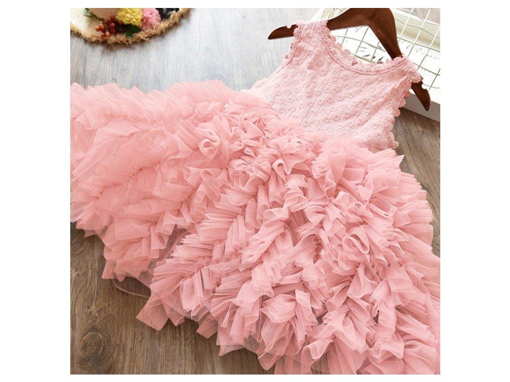 šaty dívčí pink
