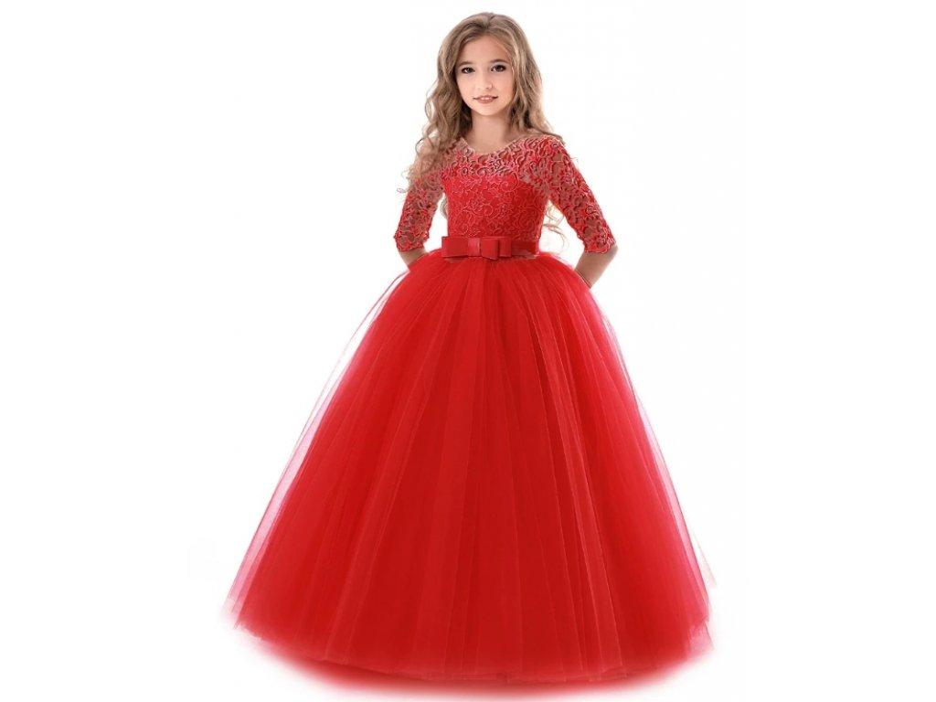 dívčí šaty red