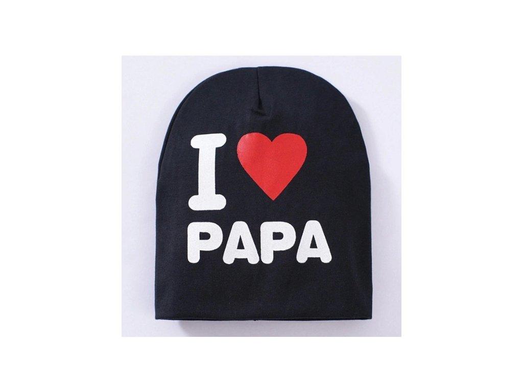 dětská čepice I love papa