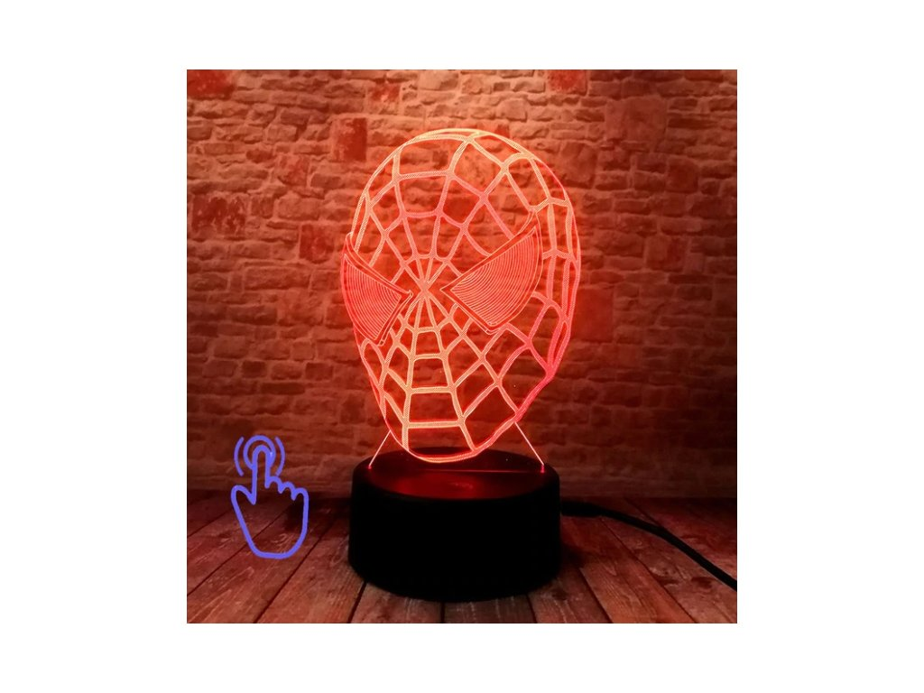 led maska spiderman