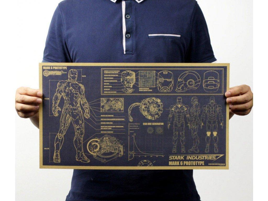 plakát iron man strak