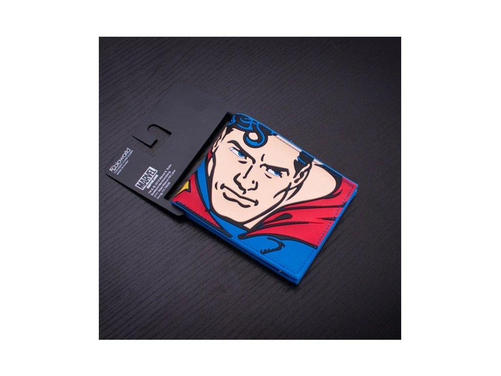 peněženka superman tvář