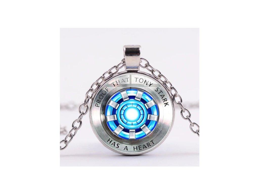 náhrdelník iron man reaktor