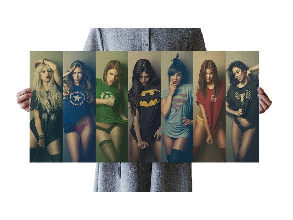 plakát superhrdinové sesy holky 98