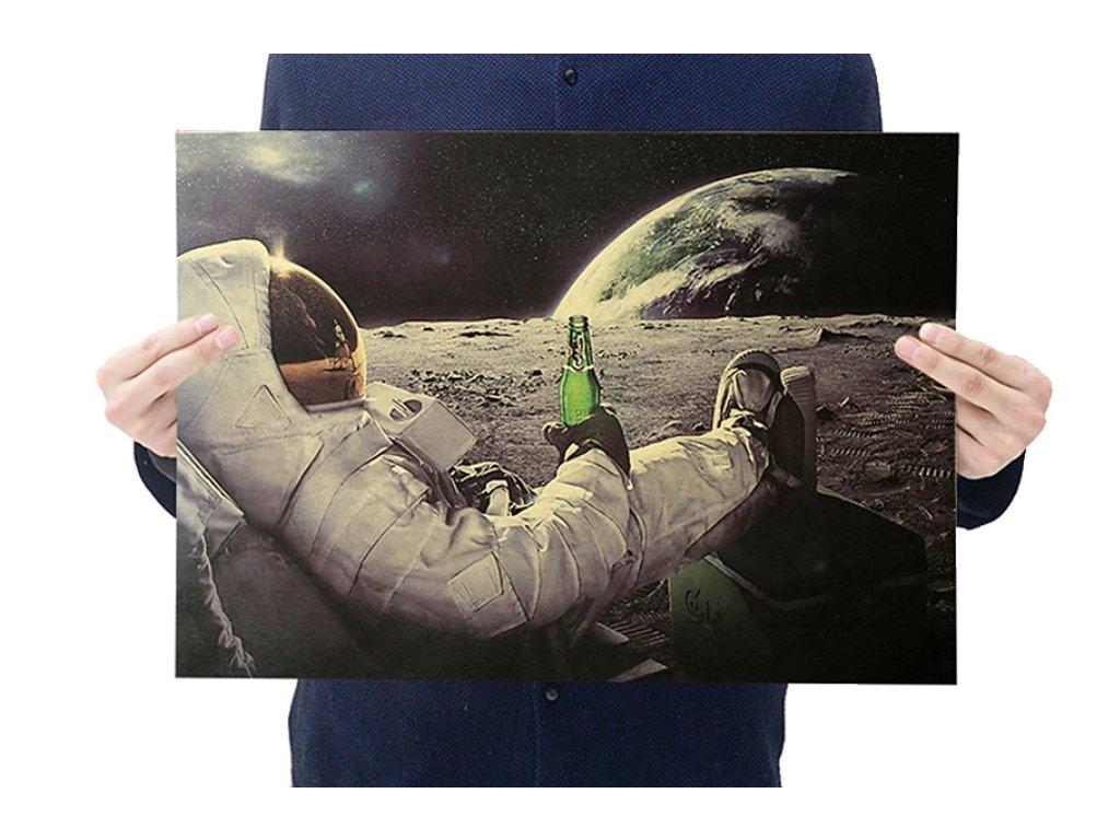 plakát měsíc astronaut 8