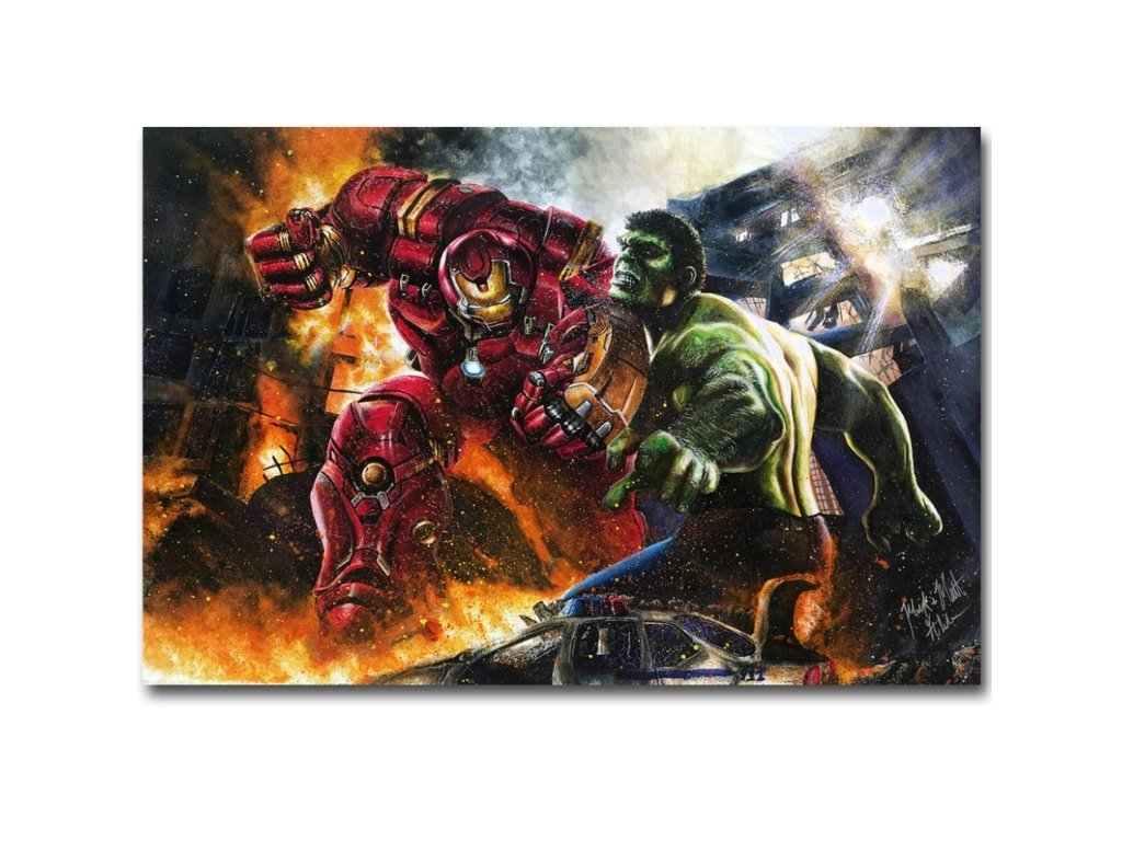 plakát Iron man vs hulk