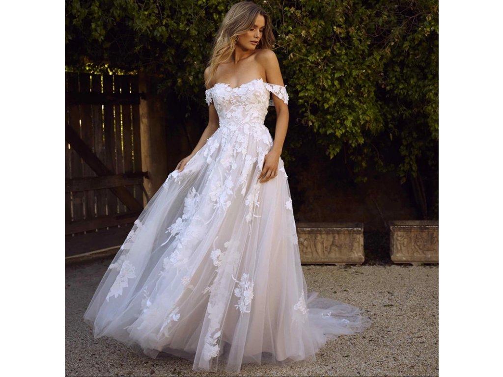 šaty svatební 65