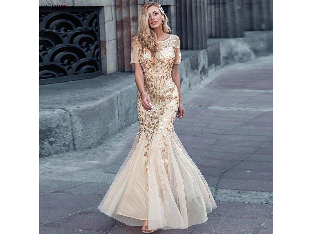 plesové šaty gold