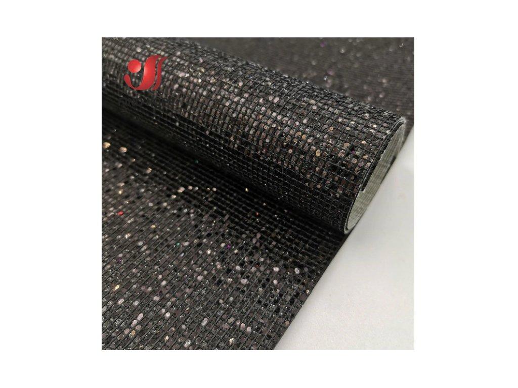 třpitivá látka černá