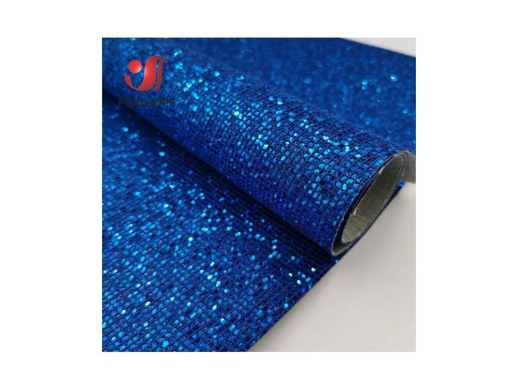 třpitivá látka modrá