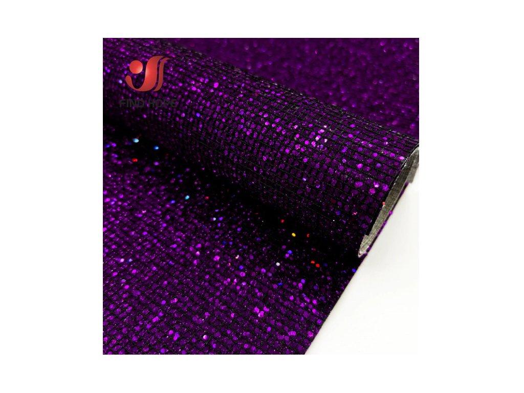 třpitivá látka fialová