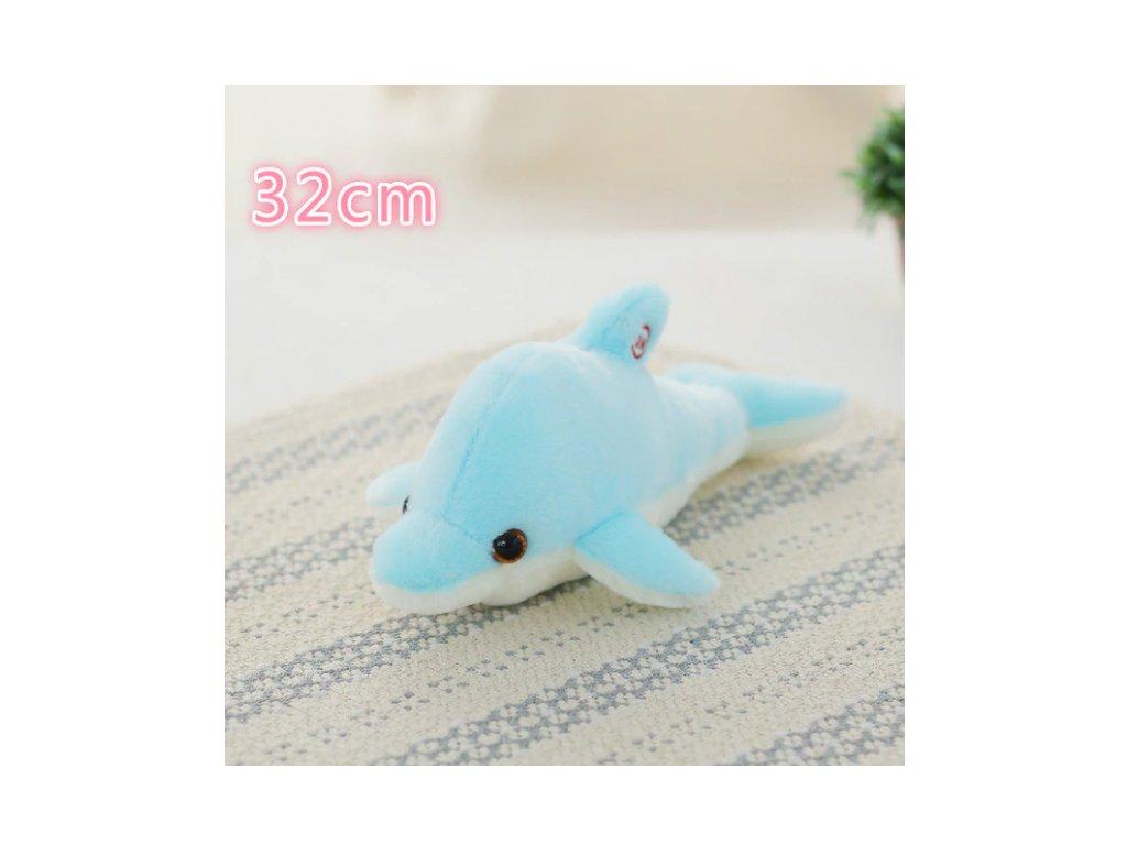 plyšák rybka modrý