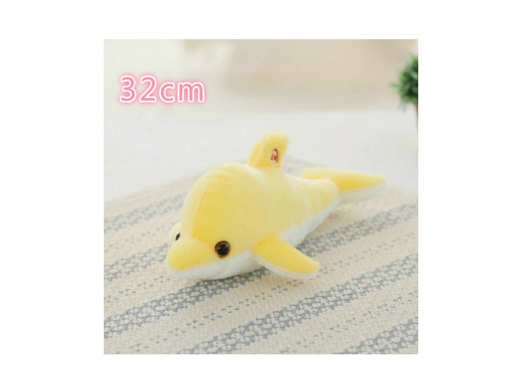 plyšák rybka žlutá