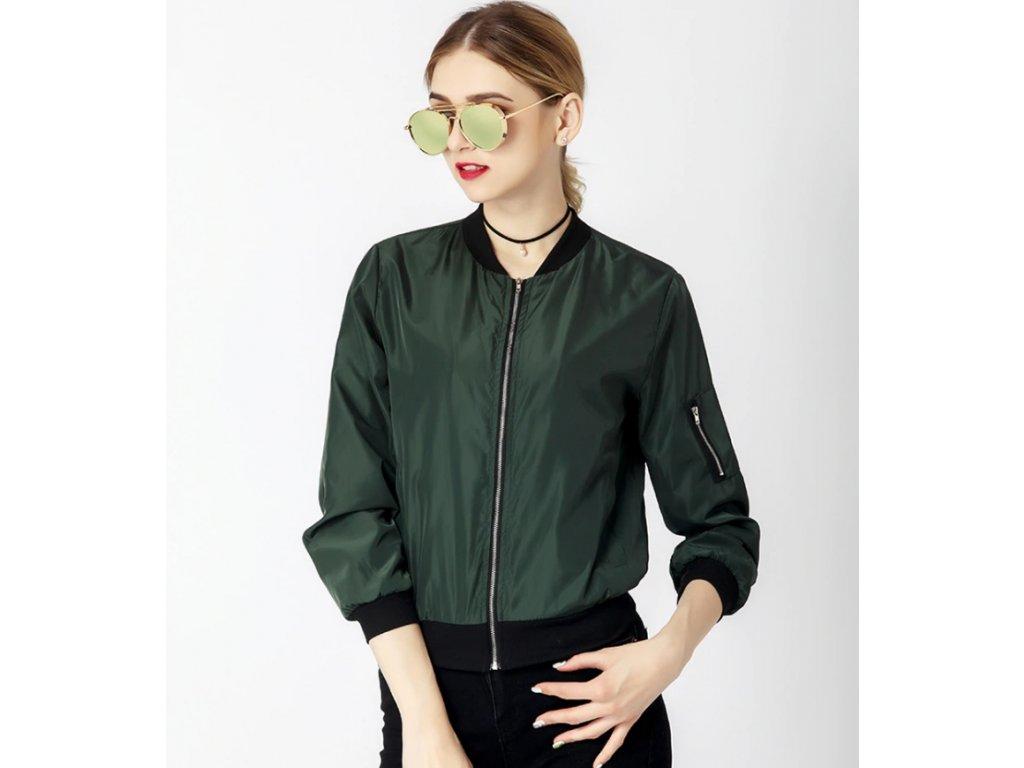 dámská bunda bomber green
