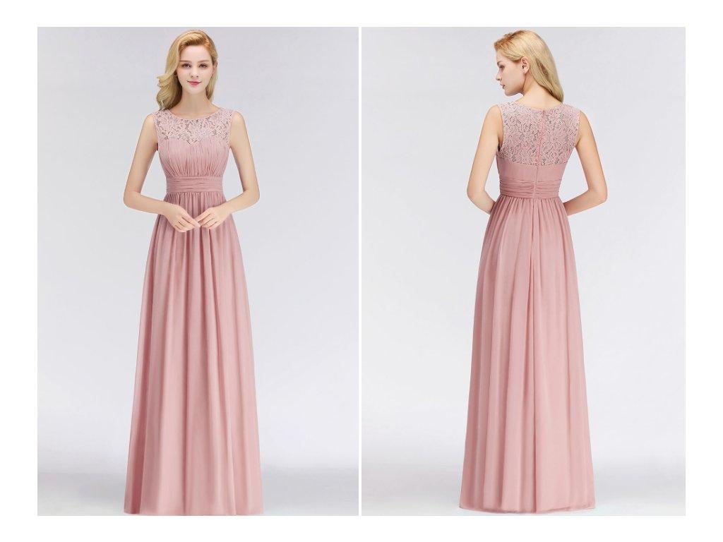 šaty pro družičku pink