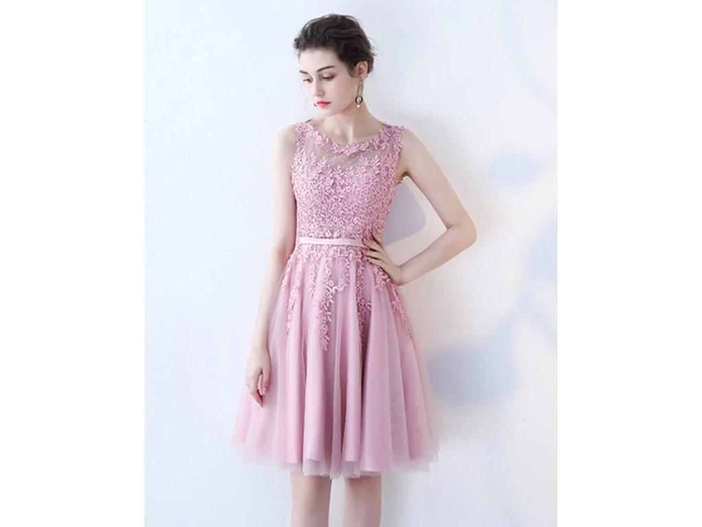šaty pro družičku short