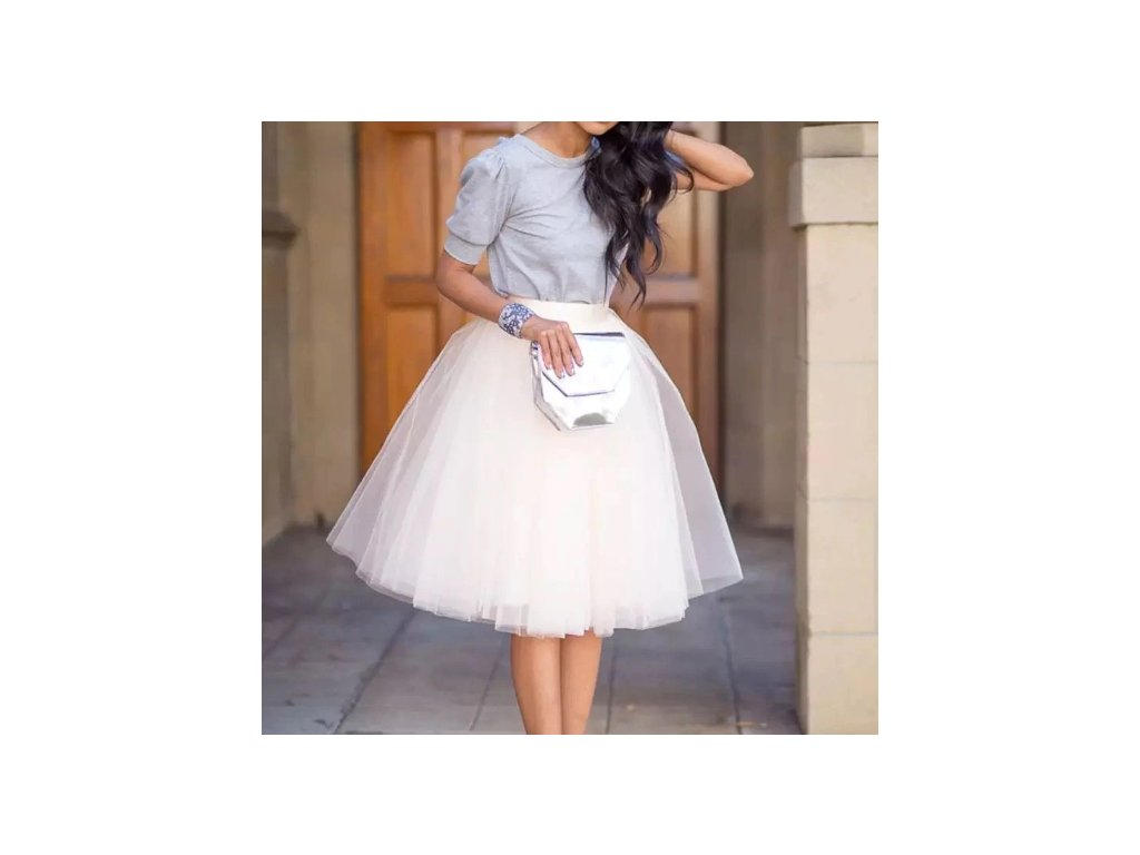 sukně white 5