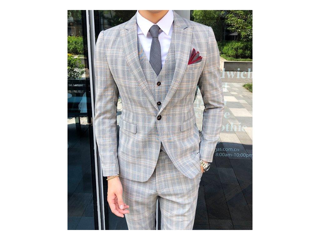 oblek grey