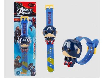 dětské hodinky kapitán amerika