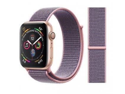 řemínek apple watch růžový