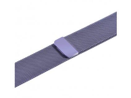 řemínek apple watch kovový fialový