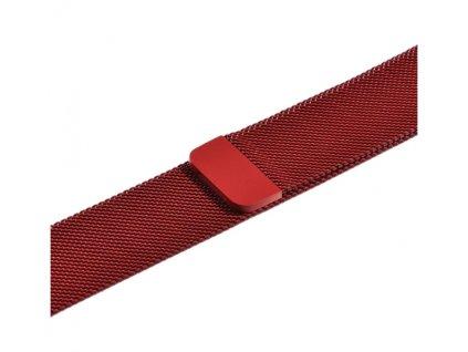 řemínek apple watch kovový červený