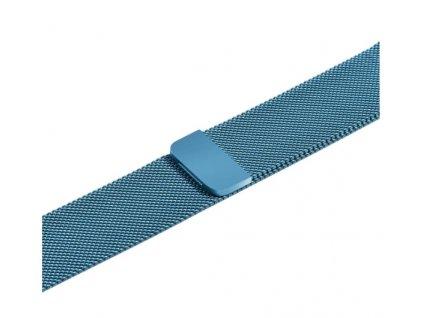 řemínek apple watch kovový modrý