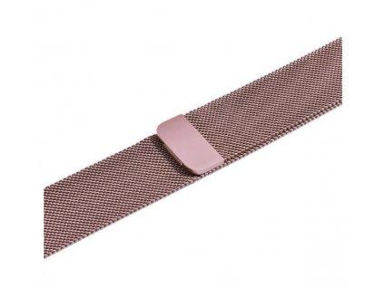 řemínek apple watch kovový růžový