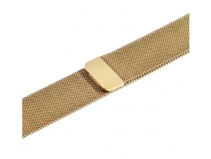 řemínek apple watch kovový zlatý