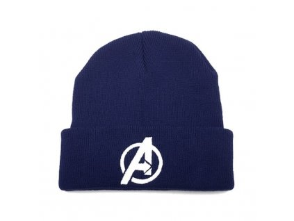 zimní čepice avengers modra